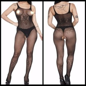 ❤️NEW Sexy Open Crotch Bodystocking Lingerie #L002